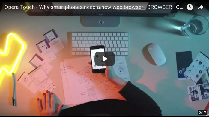 Opera Touch - why smartphones need a new web browser